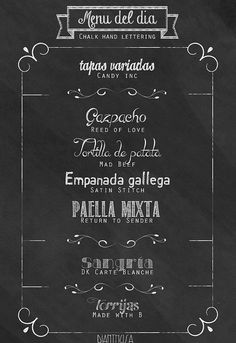 menu-fonts by DIY & accessories, via Flickr
