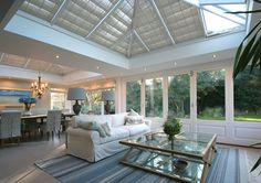 Living and Dining Space Orangery Extension in a Buckinghamshire Orangery