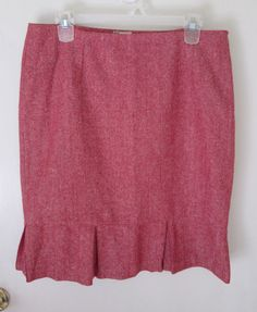 Tulle womens skirt size XL red herringbone wool pleats lined EUC #Tulle #StraightPencil.  http://www.ebay.com/itm/Tulle-womens-skirt-size-XL-red-herringbone-wool-pleats-lined-EUC-/281814262448?ssPageName=STRK:MESE:IT