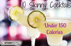 10 Cocktails with 150 Calories or Less | via @SparkPeople