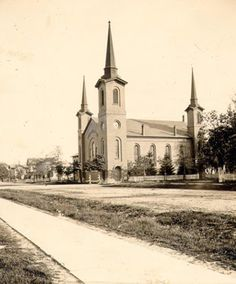 After having been organized in 1819, the First Congregational Church opened its first church building in Sandusky in 1835. This church stood in Washington Park until it was razed in 1896.