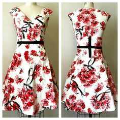 Shop Women's Karen Millen Red White size 8 Dresses at a discounted price at Poshmark. armpit to armpit by Lined. Corset in back. Bow and belt on the size. Karen Millen, Size 8 Dress, Fashion Tips, Fashion Design, Fashion Trends, Corset, Dresser, Summer Dresses, Floral