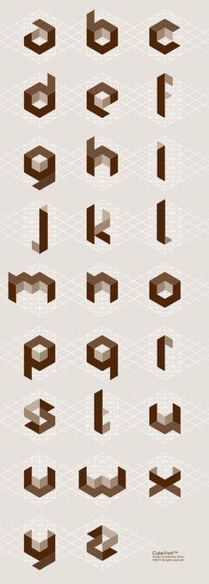 Cubic alphabet by Svetoslav Simov.