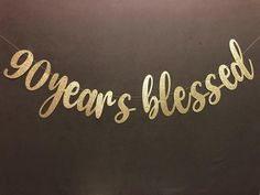 90 Years blessed banner, 90th Birthday Banner, Happy Birthday Banner, Gold Glitter Pary Decorations, 90 Years Blessed #90th #banner #birthday #blessed #decorations #glitter #Gold #happy #Pary #years 60th Birthday Decorations, 75th Birthday Parties, Diy Birthday Banner, 85th Birthday, Happy Birthday Banners, 75 Birthday Party Ideas, Daddy Birthday, Party Box, Birthday Recipes