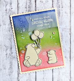 RL Design - Invitatii si felicitari Handmade : Birthday Wishes - MFT Handmade Card