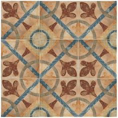 Merola Tile Americana Cleveland Encaustic in. Porcelain Floor and Wall Tile sq. / - The Home Depot Cleveland, Kitchen Flooring Options, Mexican Style Kitchens, Tiles Texture, Tile Installation, Stone Tiles, Porcelain Tile, Wall Tiles, Backdrops