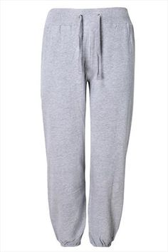Grey+Marl+Cuffed+Joggers+With+Crown+Detail+46405