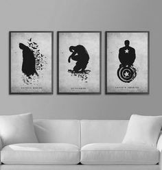 a nice, subtle way to have super heroes in the living room.