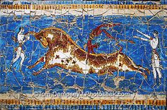 Minoan frescoes from Knossos palace