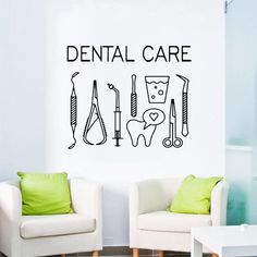 Dental Care Logo Wall Decal Sticker Mute Sensitive Teeth Remedy Benefits Of Wall Stickers Logo, Wall Decal Sticker, Dental Clinic Logo, Dentist Clinic, Dental Art, Dental Office Design, Dental Posters, Dental Office Decor, Emergency Dentist