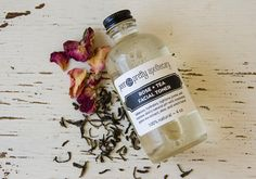 My Rose + Tea Facial Toner is handmade with rosewater, green tea extract, aloe, and witch hazel. When used daily after washing your face, it will balance, hydrate, and restore your skin's natural pH level and tighten pores. And it gets rid of anything left behind by your cleanser. I LOVE this stuff!