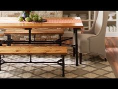 How to Build a Harvest Table Using Pipes - YouTube