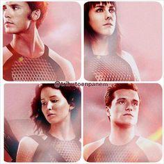 The Hunger Games: Catching Fire. Finnick, Johanna, Katniss and Peeta.