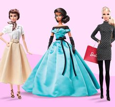 """Barbie Collector -   Barbie® has flaunted so many looks over the years — you name it, she's worn it! This selection features a few of this fashion icon's outfits, but our favorites are the Barbie® """"shopper"""" dolls: Each one is dressed in trendy threads and comes complete with a &#8220...  #Doll"""