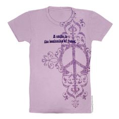 Peace Smile Vintage Womens T Shirt on Sale for $21.95 at The Hippie Shop