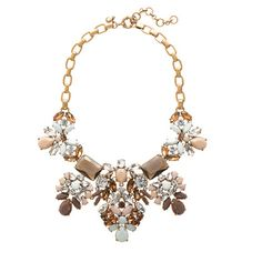 J. Crew floral pastel statement necklace-perfect way to spice up an all neutral ensemble!