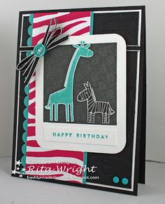 Rita's Creations: Stampin' Up! Zoo Babies