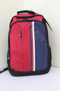 ee9d844ba5 Tommy Hilfiger backpack unisex red and blue padded laptop compartment new   TommyHilfiger  Backpack Red