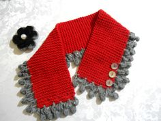 Regalo de Navidad cuello de punto de punto cuello por likeknitting