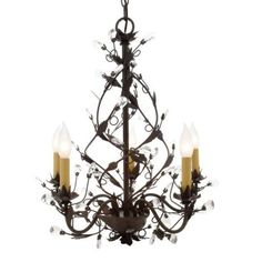 Hampton Bay Tuscan Copper 5-Light Chandelier-HB3431-240 at The Home Depot