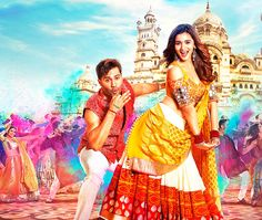 Alia Bhatt in Badrinath Ki Dulhania, there's a whole lot of Indianwear in the mix. Here are Alia Bhatt's dresses from Badrinath Ki Dulhania. Hindi Bollywood Movies, Bollywood Posters, Bollywood Couples, Bollywood Actors, Bollywood Box, Bollywood Style, Streaming Movies, Hd Movies, Movies Free