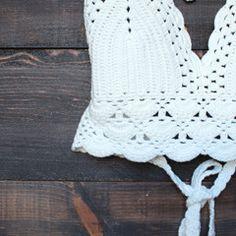 bohemian crochet crop top