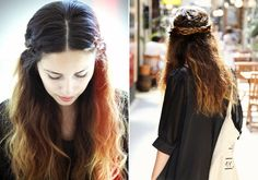 Romantikus koszorú hosszú hajból | retikul.hu