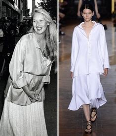 Then and Now: The '70s Trend - The Tunic-and-Skirt Combo from #InStyle