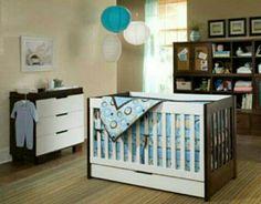 #boys #nursery #blue #brown #houzz.com