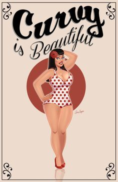 Curvy is beautiful  | Pinterest: doublecloth