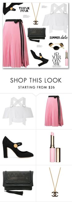 """""""Summer date night"""" by arohii ❤ liked on Polyvore featuring Rodebjer, Tome, Dolce&Gabbana, Clarins, Chinese Laundry, Bourbon and Boweties and summerdatenight"""