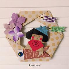 ※ 折り鶴などの伝承作品以外の折り紙作品には創作者が存在します 創作者に無断で、画像や動画で折り方の公開をすることは 絶対におやめください 日本折紙学会のガイドライン         「金太郎」 創作:kamikey         ***********    ... Box Origami, Origami Fish, Origami Paper, Diy And Crafts, Crafts For Kids, Paper Crafts, Quilling, Origami Lampshade, Child Day