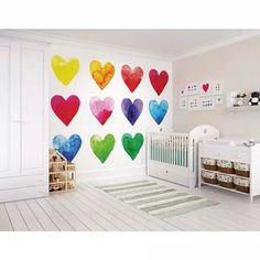 Room Ideias, Rainbow Bedroom, Rainbow Wall, Rainbow Room Kids, Rainbow Nursery, Nursery Decor, Bedroom Decor, Girl Nursery, Bedroom Ideas