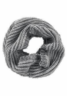 Produkttyp , Schal, |Material , Strick, |Materialzusammensetzung , Obermaterial: 76% Polyacryl, 15% Polyamid, 9% Wolle, |Farbe , grau, |Optik , Meliert, Gestreift, | ...