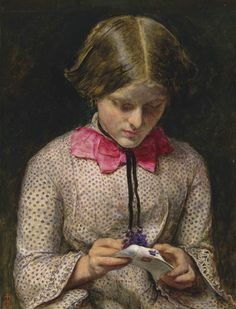 1854 The Violet's Message by Sir John Everett Millais