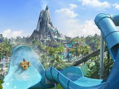 Volcano Bay waterpark at Universal Studios, Orlando Universal Orlando, Universal Studios Florida, Volcano Bay, Orlando Theme Parks, Park Pictures, Road Trip With Kids, Disney Vacations, Holiday Travel, Beautiful Landscapes