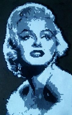 Marilyn Monroe hama perler by TonyOh79 - Portrait made from beads #MarilynMonroe #Art