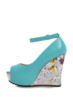 acfba0123cca These pumps featuring super high heels with print design which is pretty.  Peep toe and ankle strap with pin buckle.
