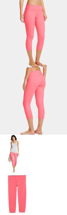 Other Womens Fitness Clothing 13360: Under Armour Ua Studiolux Denim 20 Capri Pants Sz L Large Pink Yoga Tights Lux BUY IT NOW ONLY: $59.99