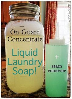 Liquid Laundry Soap with On Guard Concentrate ~ PURE clean in every wash load with essential oils!