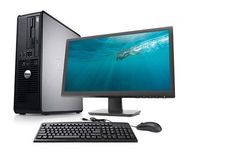 Refurbished Dell Optiplex 755 Core 2 Duo complete set with LCD keyboard, mouse & 12 Month Warranty.