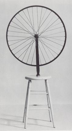 Marcel Duchamp, Roue de Bicyclette (Bicycle Wheel), replica after original, Hessisches Landesmuseum Darmstadt. Marcel Duchamp Bicycle Wheel, Dada Art, Francis Picabia, Found Object Art, Conceptual Art, Art Plastique, Community Art, Oeuvre D'art, Art History