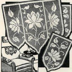 Vintage Crochet PATTERN PDF File 2802 Chair set by BlondiesSpot