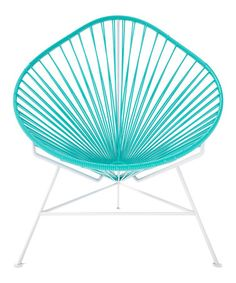 Turquoise & White Acapulco Chair by Innit
