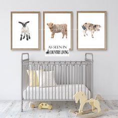 Farm Animal Nursery, Baby Farm Animals, Farm Nursery, Nursery Themes, Nursery Prints, Nursery Wall Art, Themed Nursery, Nursery Decor, Nursery Sets