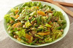 Leafy Bean, Bulgur & Orange Salad recipe