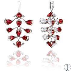 Forms Jewellery Hong Kong. Rubies & Diamonds, A Pair of Earrings by FORMS #formsjewellery #unheatedruby #diamond #rubyearrings