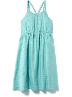 Swiss-Dot Cami Dress for Girls