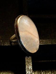 Gossamer Pink Stilbite Sterling Silver Ring | Katrinaalexa - Jewelry on ArtFire