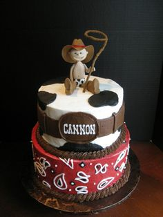 Cute buckle with name- Cowboy cake